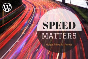 Speed matters for wordpress