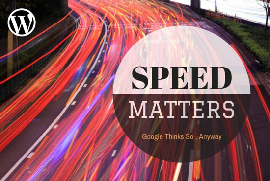 Speed matters for wordpress