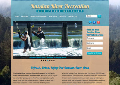 Parks District Website Design