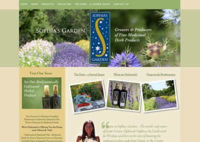 Biodynamic Farm Website Design