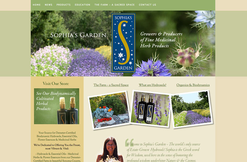 Biodynamic Farmer Website design