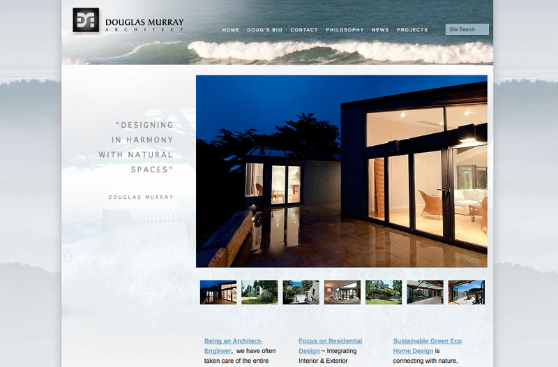 graphic design for architect website
