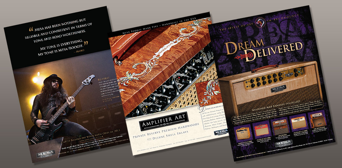 magazine ad designs for musical instruments company