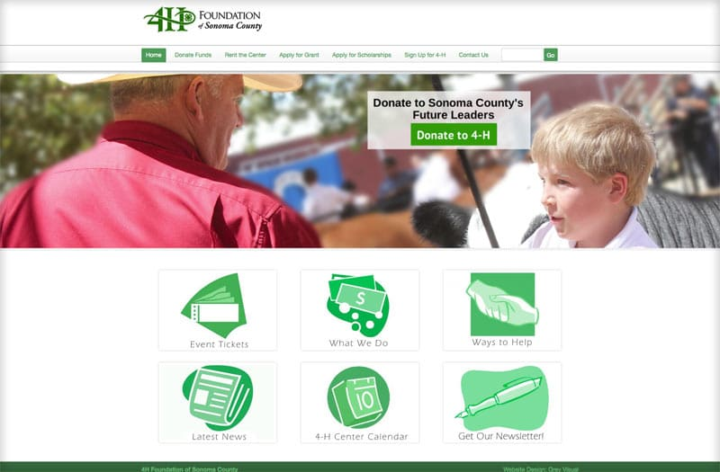 prescott web design portfolio item - 4H foundation