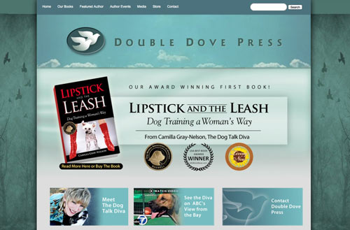 prescott web design portfolio item - publisher marketing site