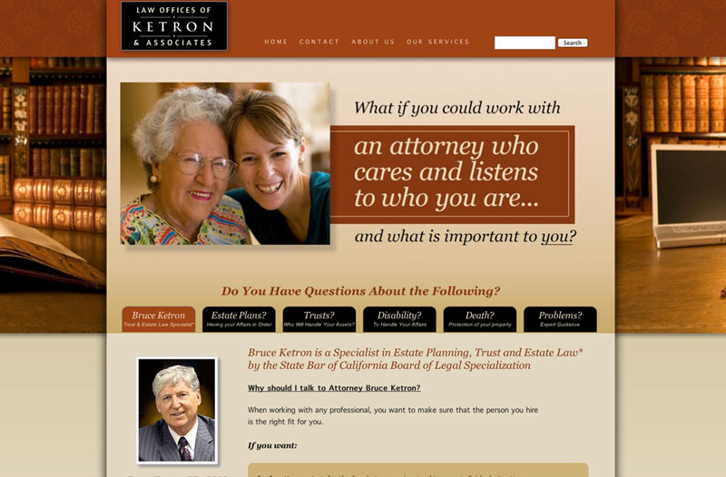 graphic design for estate attorney website