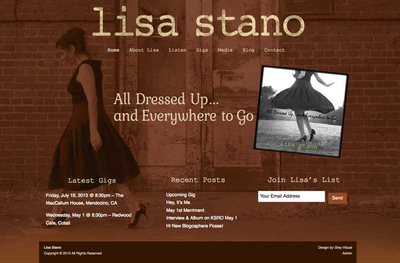 graphic design for singer-songwriter website