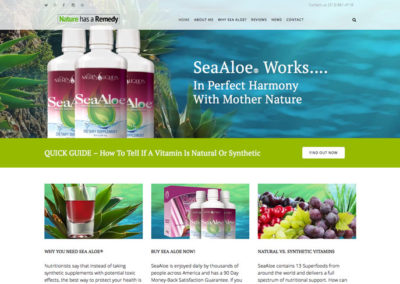 Natural Remedy Health Website Design