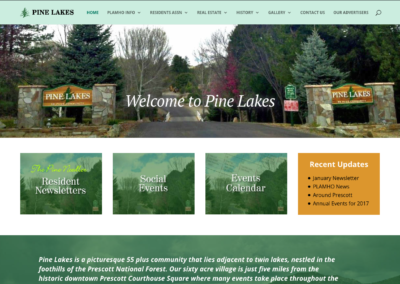 Senior Community Website Design