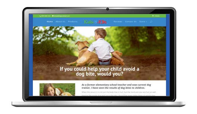 Bite Prevention Website Design