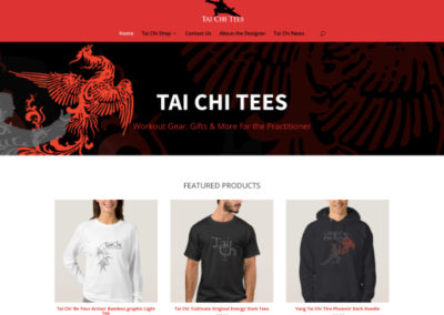 Tai Chi Tees Web Design