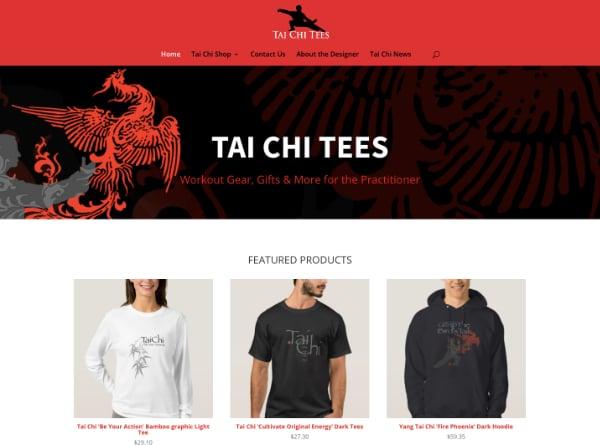 Tai Chi Tees Web Design