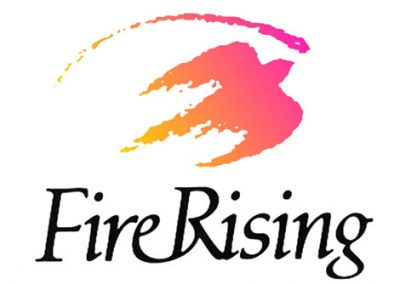 Fire Rising Logo for Metaphysical Bookstore