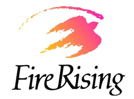 Fire Rising Logo for metaphysical book store
