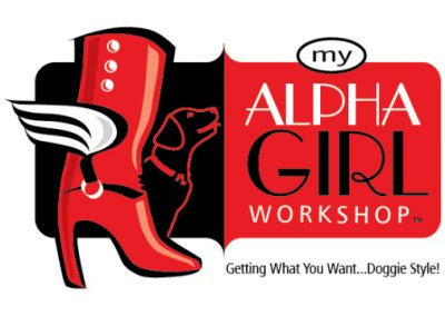 Alpha Girl Dog Training Logo