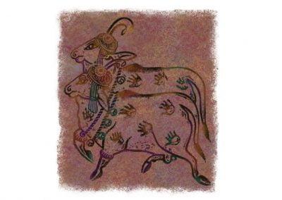 Stone Rubbing Illustration for Indian Historian