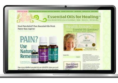 Essential Oils Website Design