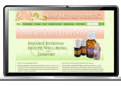 Alternative Health E-Commerce Website Design