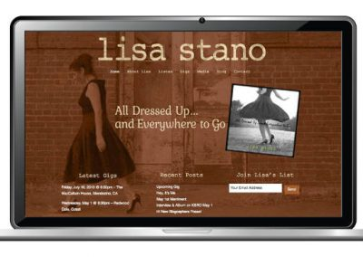 Singer / Songwriter Website Design