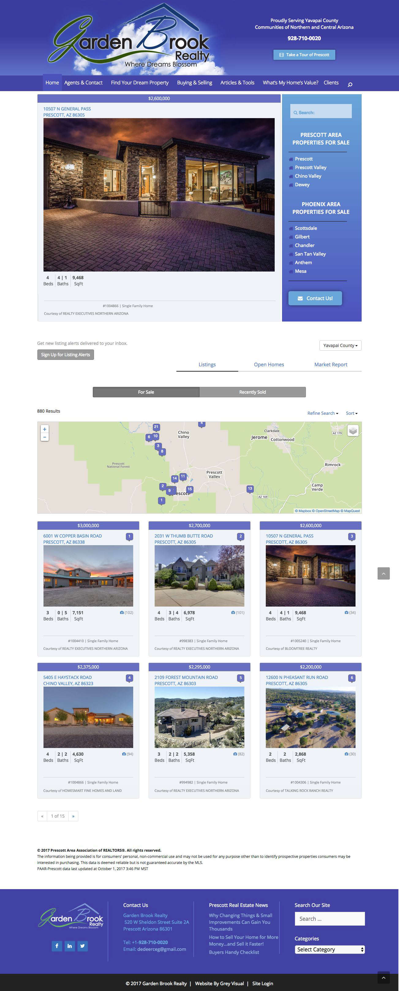 Realty Web Design for Prescott Arizona Realty