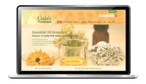 essential oils website design