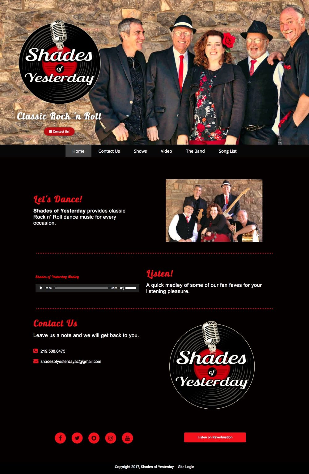 rock 'n roll website design