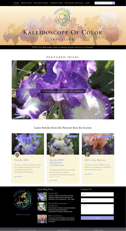 Prescott Area Iris Society Website and Store