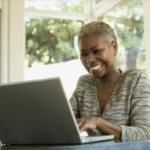 Woman enjoying her computer